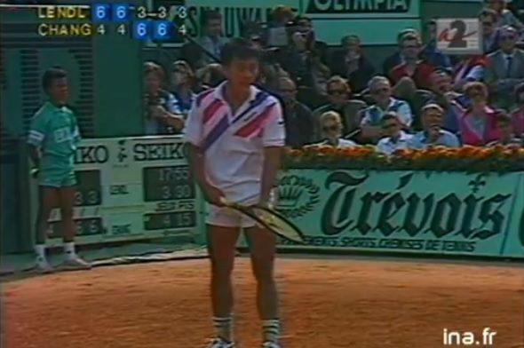 Le service à la cuillère et l'intox de Chang contre Lendl (Roland-Garros 1989)