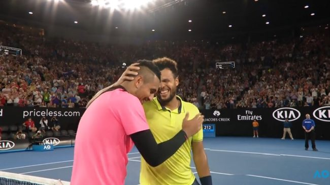 Kyrgios - Tsonga : des points énormes, du fair-play, de la tension, bref un très gros match (OA 2018)