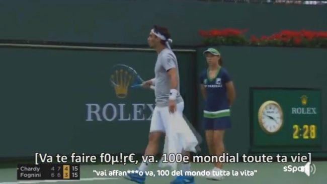 "Fabio Fognini parle sur Chardy : ""100e mondial toute sa vie. Il joue au hasard."" (Indian Wells 2018)"