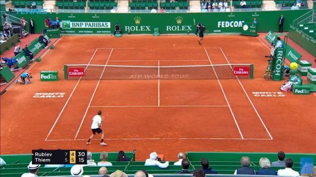 Thiem - Rublev : les balles ont pris très cher (Monte-Carlo 2018)