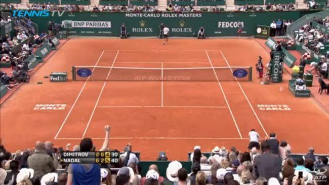 Nadal - Dimitrov, Monte-Carlo 2013 : quatre points de fou