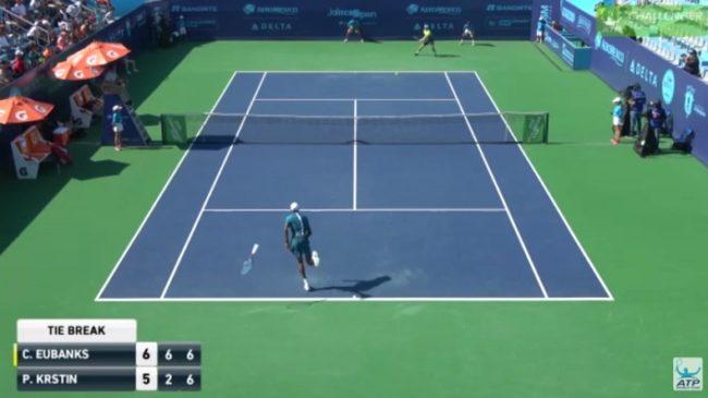 Une balle de match insolite au Challenger de Guadalajara 2018