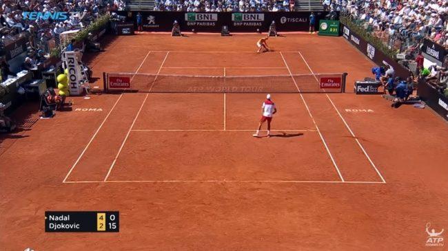 Nadal - Djokovic, Rome 2018 : C'est quoi encore ce point de mutant