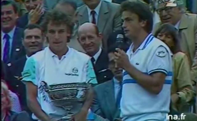 """Leconte - Wilander, Roland-Garros 1988 : le résumé de la finale et le célèbre discours de """"Riton"""""""