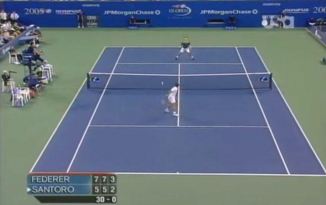 Federer vs. Santoro : quand deux magiciens offrent un spectacle exceptionnel (US Open 2005)
