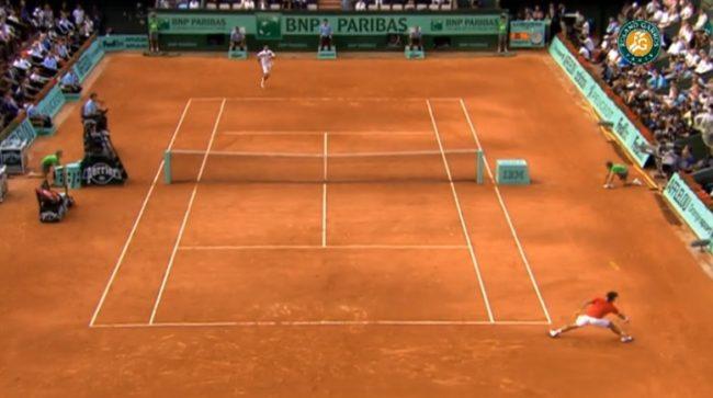 Le passing phénoménal de Federer contre Djokovic (Roland-Garros 2011)