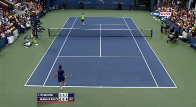 Point de fou entre Fognini et Mannarino (US Open 2014)