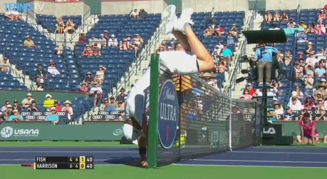 L'acrobatie insolite de Mardy Fish (Indian Wells 2015)