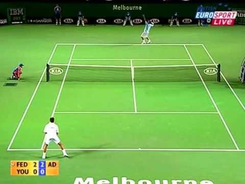Federer vs Youzhny : bataille de revers slicés (Open d'Australie 2007)
